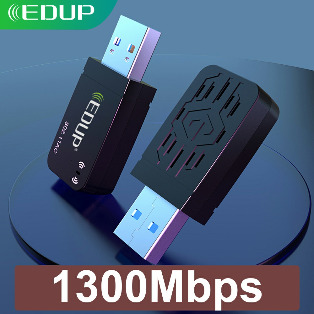 EDUP Dual Band 1300Mbps USB 3.0 Wireless AC Network Card USB WIFI Lan Adapter 802.11ac Mini Portable Wi-Fi Adapter For PC Laptop(China)