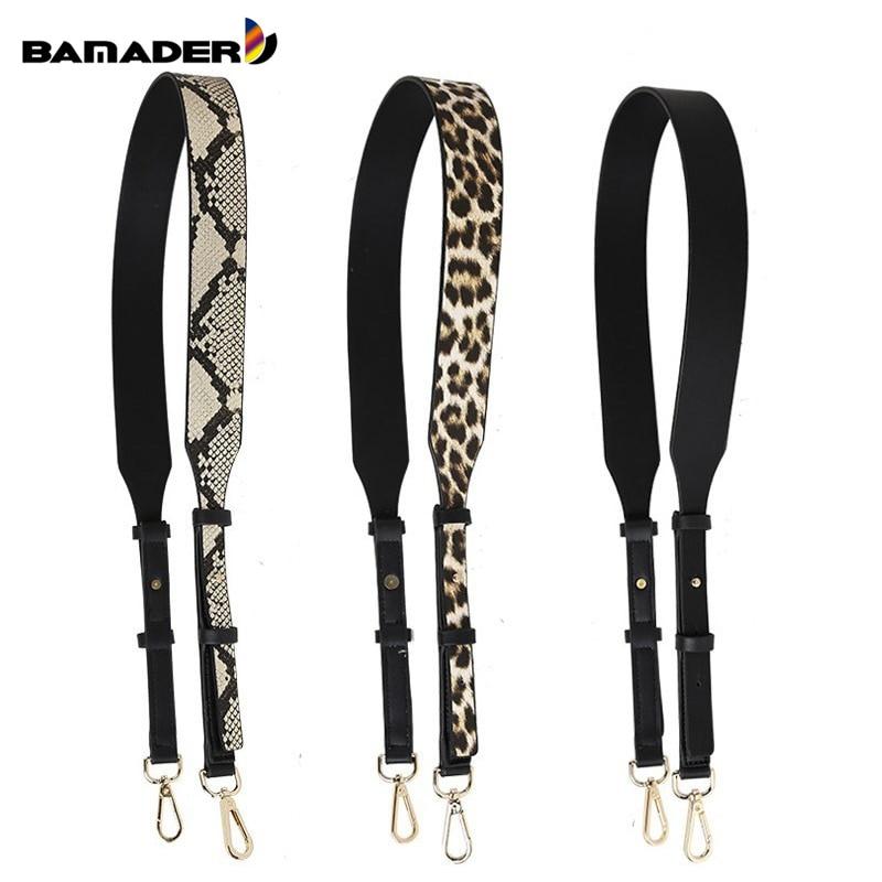 BAMADER Brand Fashion Leopard Snake Pattern Adjustable Bag Strap New Women's High Quality Leather Shoulder Strap Bag Accessories