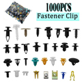 1000 pçs/set plástico automotivo rebite carro fender amortecedor interior guarnição push pin clipes kit acessórios do carro com 6 Polegada ferramenta
