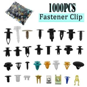 1000 Stks/set Automotive Plastic Klinknagel Auto Fender Bumper Interieur Trim Push Pin Clips Kit Auto Accessoires Met 6 Inch Tool(China)