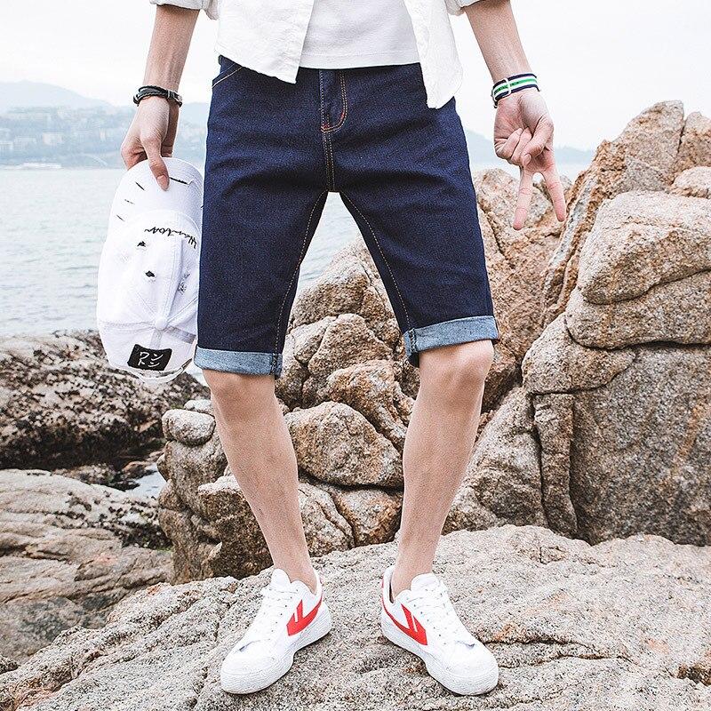 2019 Summer Men Short Jeans Korean-style Trend Denim Shorts Young MEN'S FASHION Casual Capri Shorts