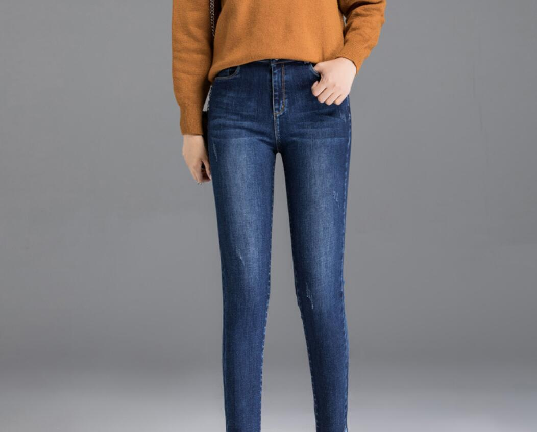 2019 New high waist female   jeans   women Mother trousers slim straight WE915-1-WE15-14