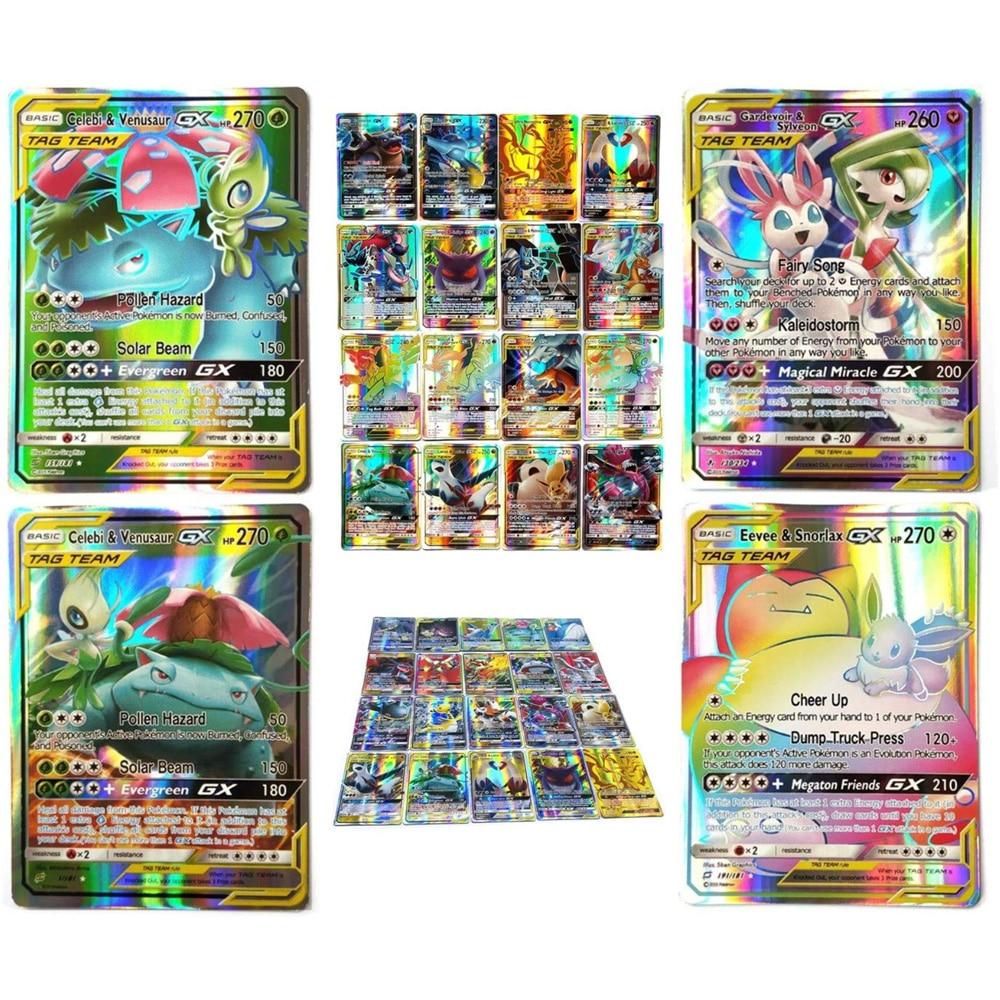 TOMY 120 PCS Pokemon Card Lot Featuring 80tag Team 20mega 20 Ultra Beast Gx