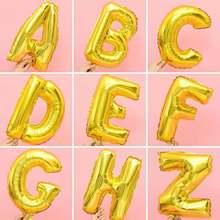 16/32/40 Polegada feliz aniversário festa decoração balões folha letra alfabeto nome balão casamento chá de bebê hélio bolas de ar
