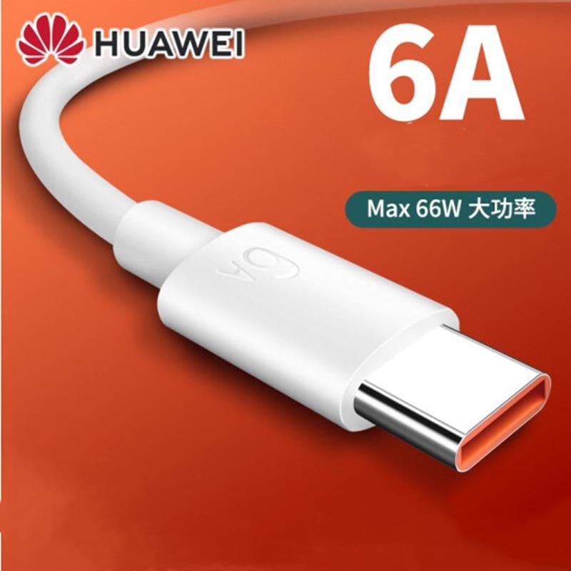 Оригинальный Huawei 6A Сверхбыстрый зарядный шнур 100 см USB 3,1 Type C мобильный телефон кабель для Mate 40 RS 30 20 Pro + P40 Nova 9 8 7 Pro