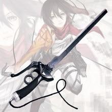 Anime katana samurai espada arma modelo de brinquedo adolescente anime anime katana samurai espada prop cosplay eren mikasa dupla faca