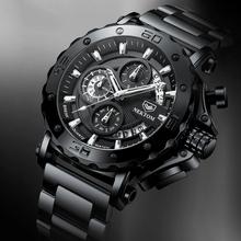 Nekttom męskie zegarki kwarcowe zegarki wodoodporne stalowy pasek zegarki zegarki męski zegarek wojskowy zegarki sportowe tanie tanio NEKTOM 22cm QUARTZ 3Bar Przycisk ukryte zapięcie CN (pochodzenie) Stop 25mm Hardlex Papier STAINLESS STEEL 49mm 8229 ROUND