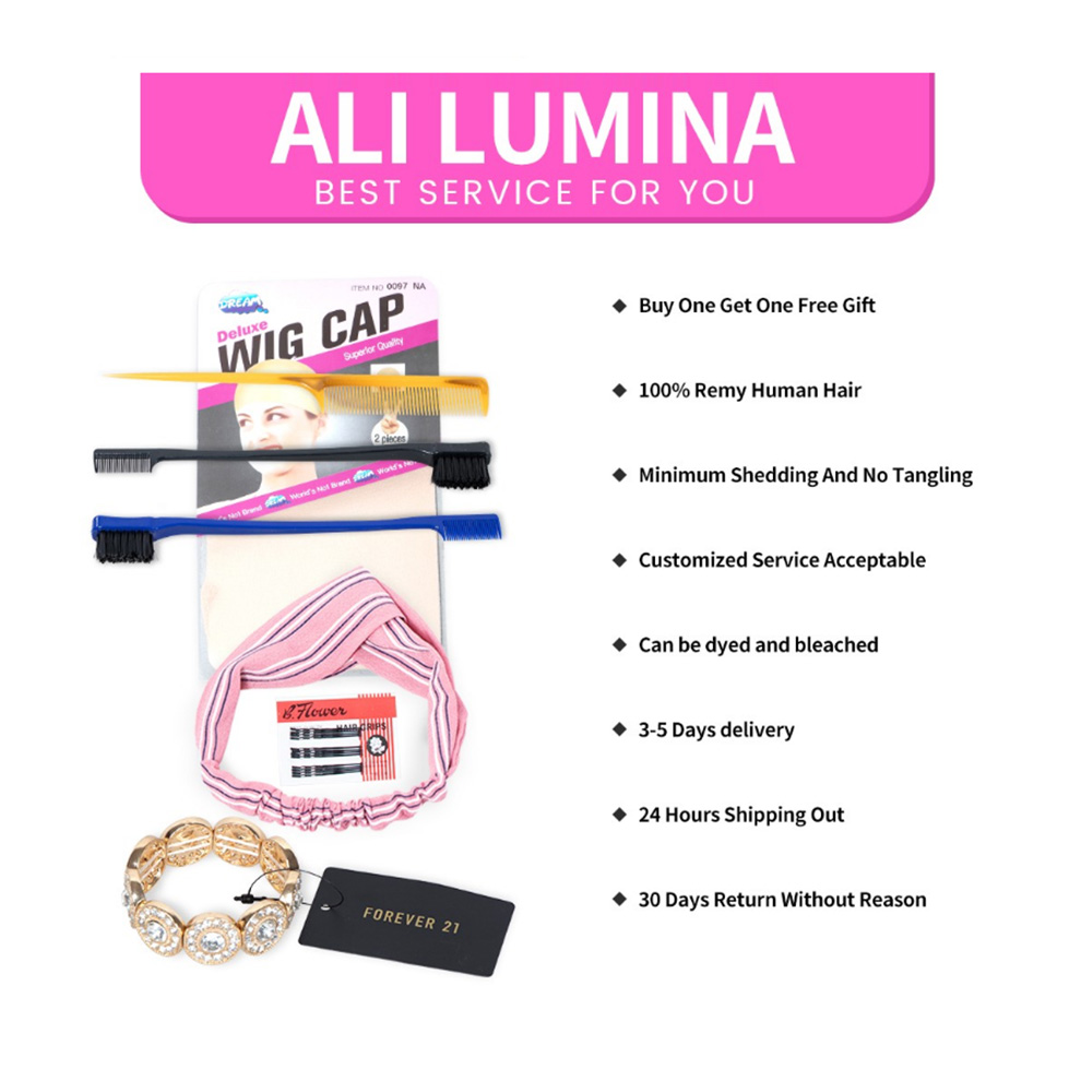 613 Honey Blonde Straight  Lace Frontal Wig ali lumina 6