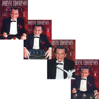 Commercial Classics Of Magic By Johnny Thompson 1-4- MAGIC TRICKS