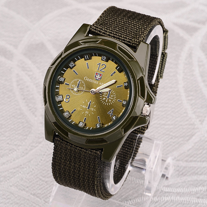 Men Sports Watches Men Nylon Band Military Watches Gemius Army Watch Men's Quartz Watches Casual Wristwatches Masculino Relogios