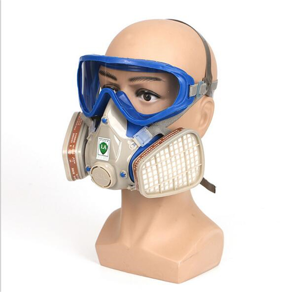 US $9.25 30% OFF|Gas mask spray paint special pesticide pesticide gas fire formaldehyde haze PM2.5 gas mask With blindfold|  - AliExpress