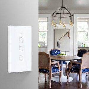 Image 5 - Wifiスマートライトスイッチガラススクリーンタッチパネル音声制御ワイヤレス壁スイッチリモートalexaとgoogleホーム1/2/3/4ギャング
