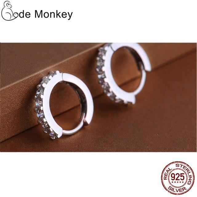 925 Sterling Silver Crystal Circle Earrings 4