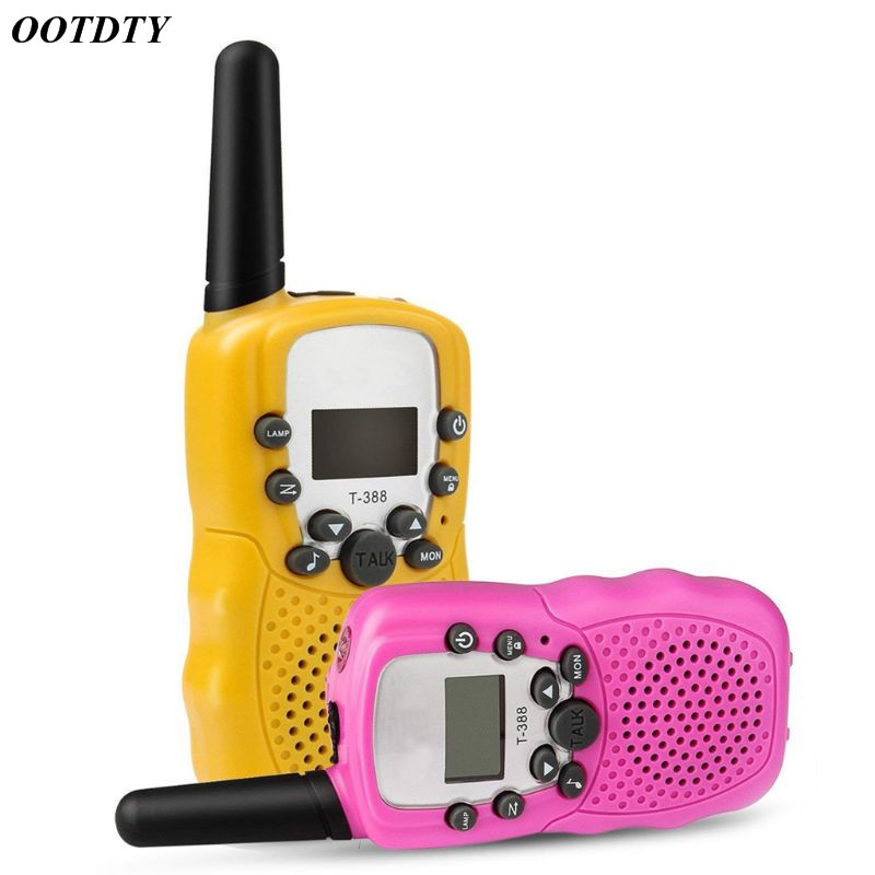 1Pair Child Kids Walkie Talkie Parenting Game Mobile Phone Telephone Talking Toy 3-5KM Range for kids
