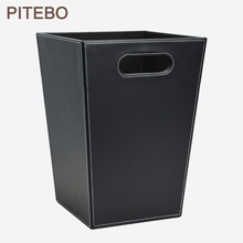 Trash-Cans Office-Supplies Wastepaper-Basket Sundries Business-Square PITEBO Household