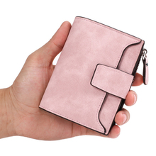 Leather Women Wallet Hasp Small and Slim Coin Pocket Purse Women Wallets Cards Holders Luxury Brand Wallets Designer