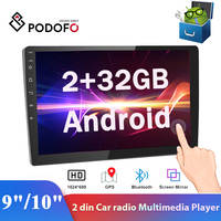 "Podofo 2din 9 ""/10"" Android Auto Radio 2 + 32GB Multimedia Player Audio Stereo Autoradio GPS"