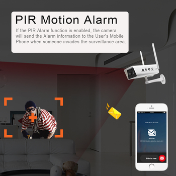 Wireless Solar Camera 1080P Security Surveillance Camera Waterproof IR Night Vision Support TF card 10200MAh P2P cloud Use 4