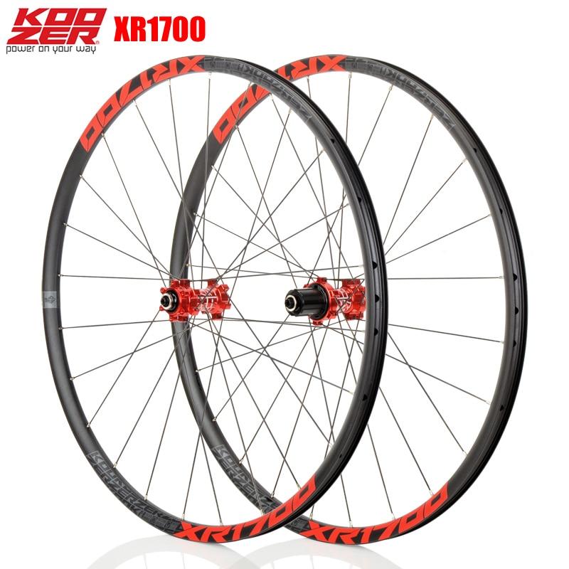 KOOZER XR1700 MTB Mountain Bike 26 27.5 Inch Wheelset 6 Claw Sealed Bearing QR Thru-axis Bicycle Disc Braake Wheels DT Radio 24H(China)