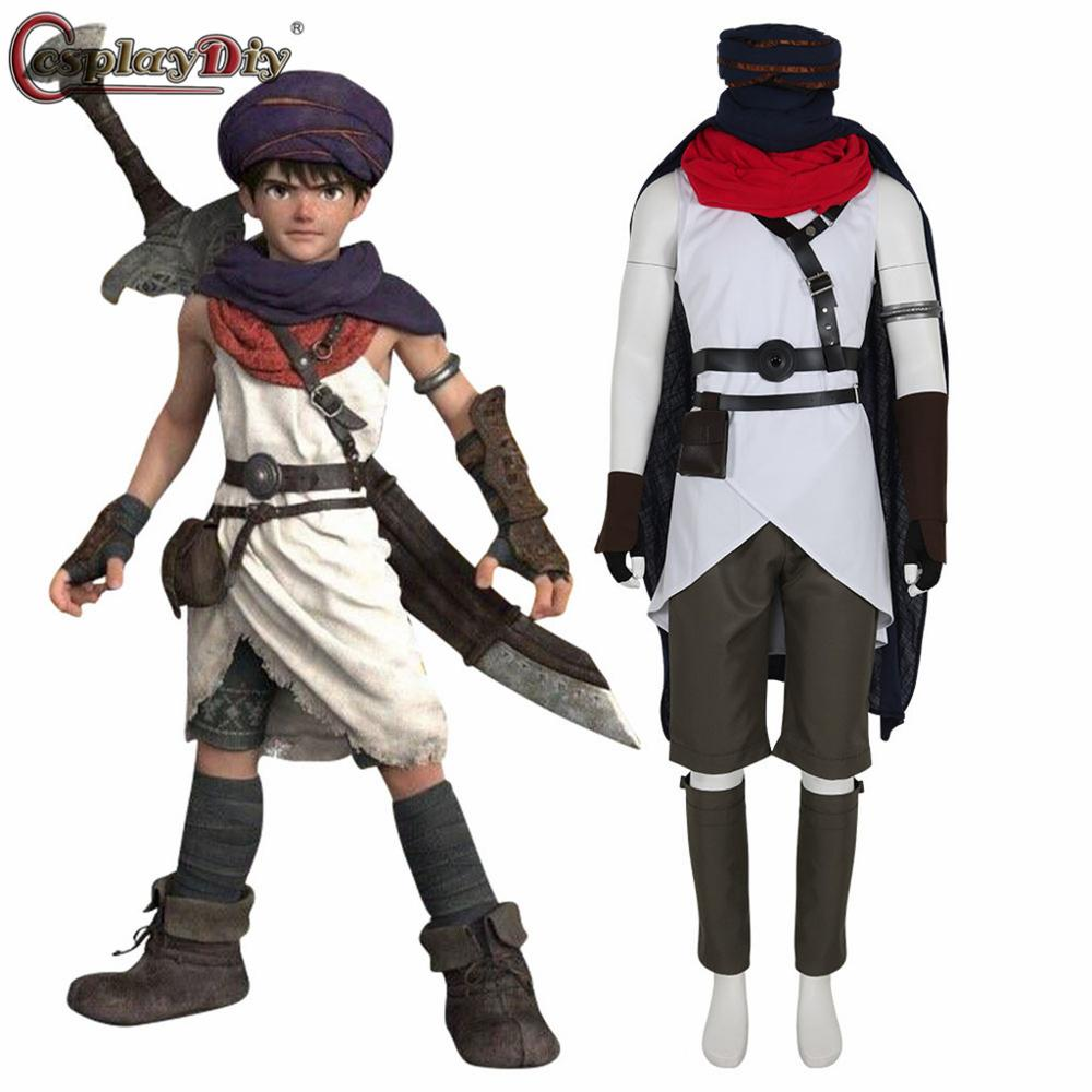 Cosplaydiy Movie Dragon Quest Your Story Cosplay DQ Hero Costume Adult Men Women Halloween Party Full Outfits Custom Made image