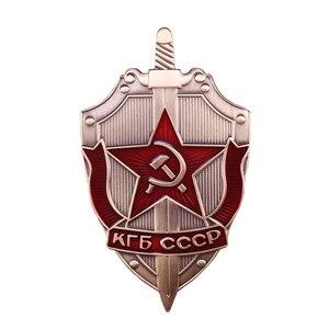 КГБ Россия CCCP брошь в виде медали WW2 красная армейская эмалированная булавка советский военный значок шапка ювелирные изделия