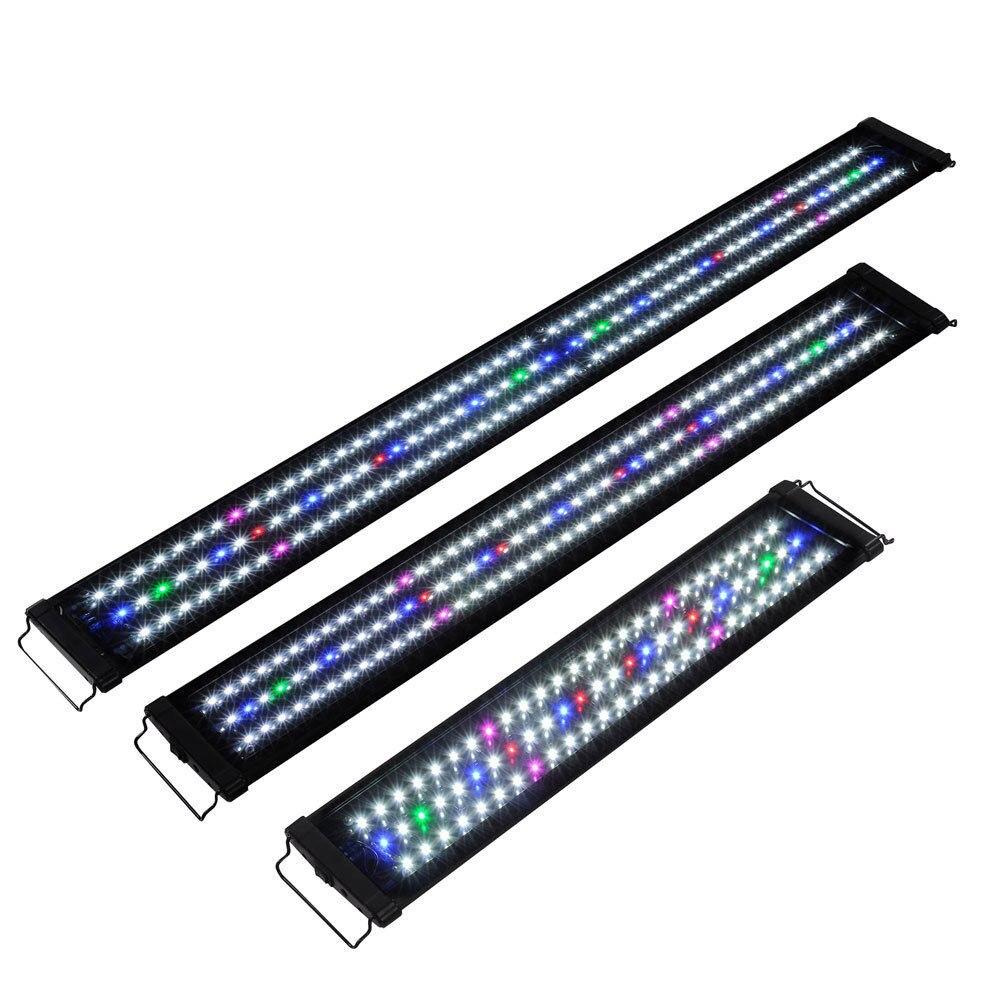 Luz LED para acuario 30CM 45CM 60CM 90CM 120CM espectro completo para planta de pecera de agua dulce marina 36 LED Luz de escenario RGB bola mágica de cristal bombilla DMX Par luz 110-240V discoteca Club fiesta Luz