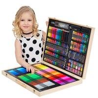 251Pcs Kids Art Set Children Drawing Set Water Color Pen Crayon Oil Pastel Painting Drawing Tool Art supplies stationery set
