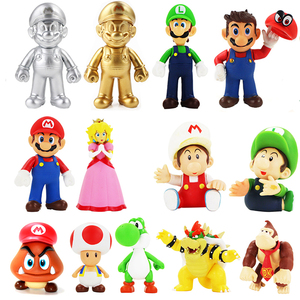13cm Game Super Mario Bros Luigi Yoshi Koopa Mario Maker Odyssey Toadette DONKEY KONG PVC Action Figures Toys Model Dolls Gifts