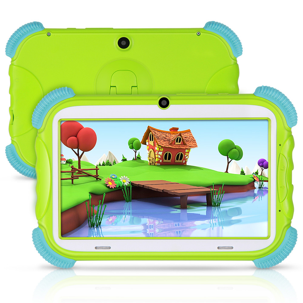 Tablet For Kids 7 Inch Android 8.1 16GB Babypad Edition PC With Wifi And Camera GMS Certified Supported Kids-Proof Case