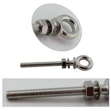 Нержавеющая сталь 3/8 дюйма 10 мм Eyebolts резьбовые винты с петлей длинные с шайбой и гайкой