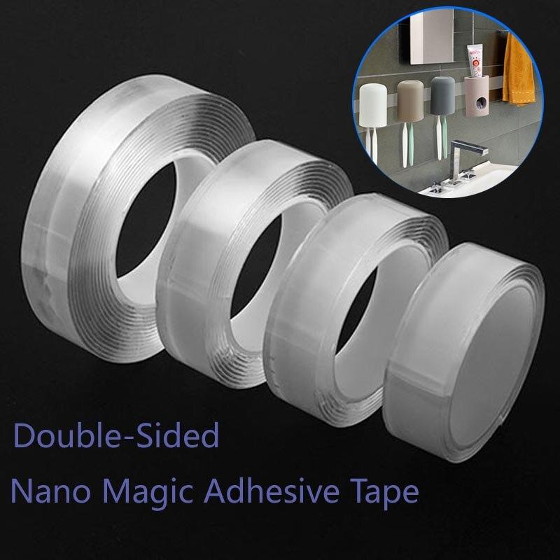 1/2/3/5m Multi-Function Strong Tape Double Sided Nano Magic Adhesiva Transparent Waterproof Gekkotape Loop Disks Tie Glue Gadget