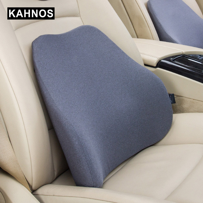 Car Lumbar Cushion Car Headrest Back Pillow Seat Supports Memory Foam Cotton Seat backrest office chair Covers Auto Accessories