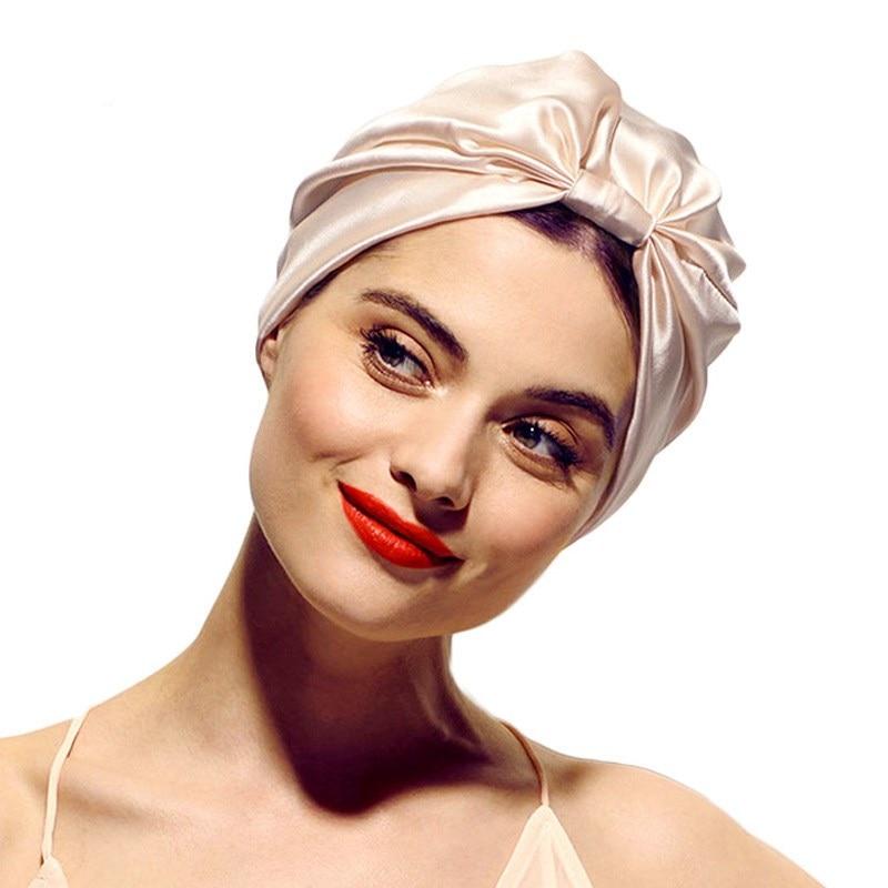 Модный мусульманский шелковый тюрбан для волос, женские головные уборы, Женский тюрбан для выпадения волос, индийская шапка, атласный тюрба...