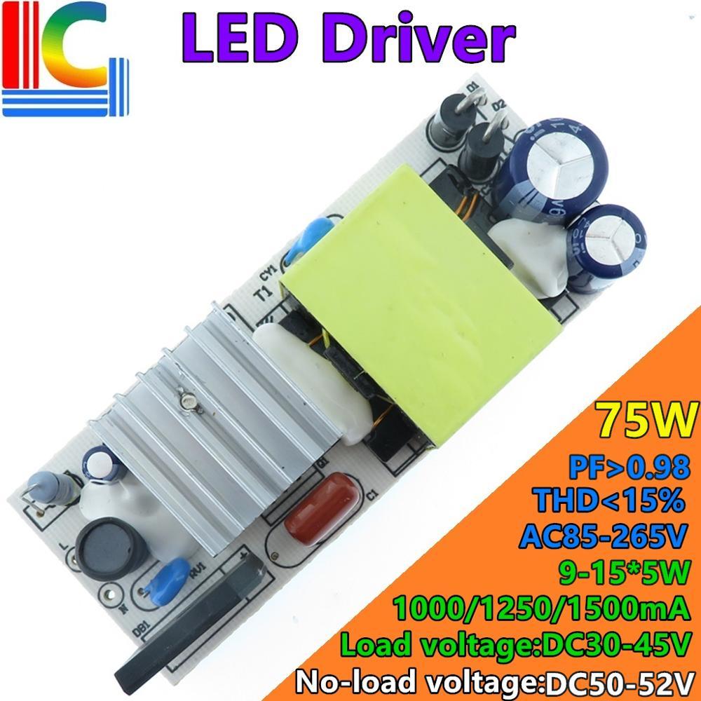 48 Вт 56 Вт 72 Вт светильник ing Transformer THD <= 15% светодиодный адаптер драйвера 1050mA 1250mA 1450mA источник питания светодиодный светильник кукурузы и свет...