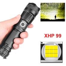 9 الأساسية Xhp99 قوية مصباح ليد جيب شحن Usb 18650 و 26650 بطارية التكبير الشعلة الألومنيوم إضاءة مقاومة للماء XHP50.2 فانوس