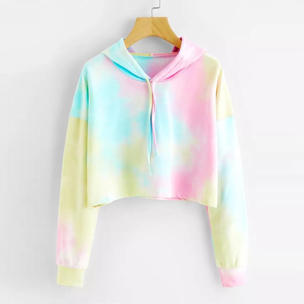 Sweatshirt Women Fashion Korean Blouse Hoodie Printed Patchwork Long Sleeve Pullover Tops Multicolor Hoodie Sweatshirt Woman