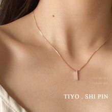 Корейская версия розовое золото Ниша дизайн ожерелье мода веб