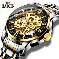 HAIQIN, мужские часы, спортивные/Автоматические/механические/mliltary часы, мужские наручные часы, мужские часы, Топ бренд, Роскошные, relogio mecanico