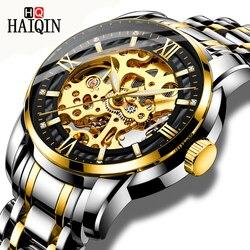 HAIQIN męskie zegarki sportowe/automatyczne/mechaniczne/mliltary zegarek męski zegarek męskie zegarki top marka luksusowe relogio mecanico|Zegarki mechaniczne|   -