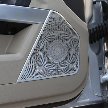 Car Styling Door Audio Speaker Horn Net Cover Trim 4Pcs For Mercedes Benz GLK X204 2008-2015 Aluminum Alloy Auto Accessories