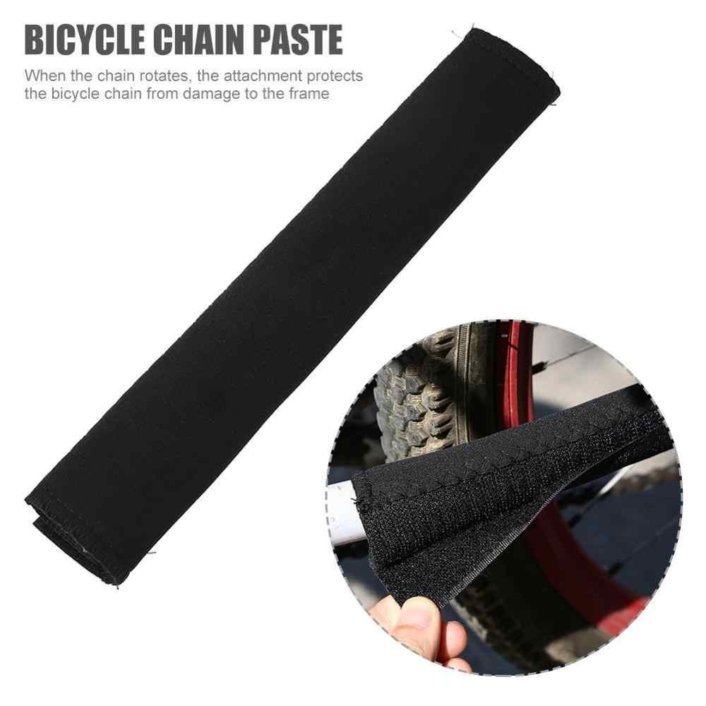 Bicicleta neoprene durável ciclismo cuidados com a corrente postada guardas quadro da bicicleta protetor de corrente protetor de cuidados com a bicicleta guarda capa chainstay