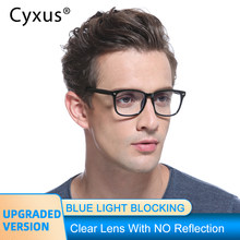 Cyxus Anti Computer di Luce Blu Occhiali per Anti-Occhi Affaticamento Degli Occhi Chiaro Obiettivo del PC TR90 Telaio Aggiornamento per Mens Delle Donne Occhiali Da Vista 8182