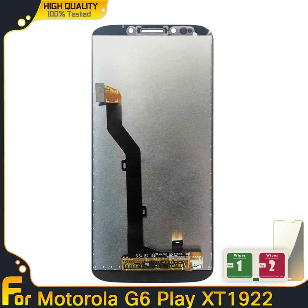 LCD ل موتورولا موتو G6 اللعب محول الأرقام بشاشة تعمل بلمس شاشة المجموعة عرض ل موتو G6 اللعب XT1922 XT1922-3 XT1922-4 LCD