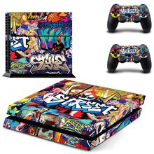 Graffiti PS 4 Sticker Play station 4 Stickers PS4 Skin Vinyl Decal Pegatinas Adesivo For PlayStation 4 console and 2 controller