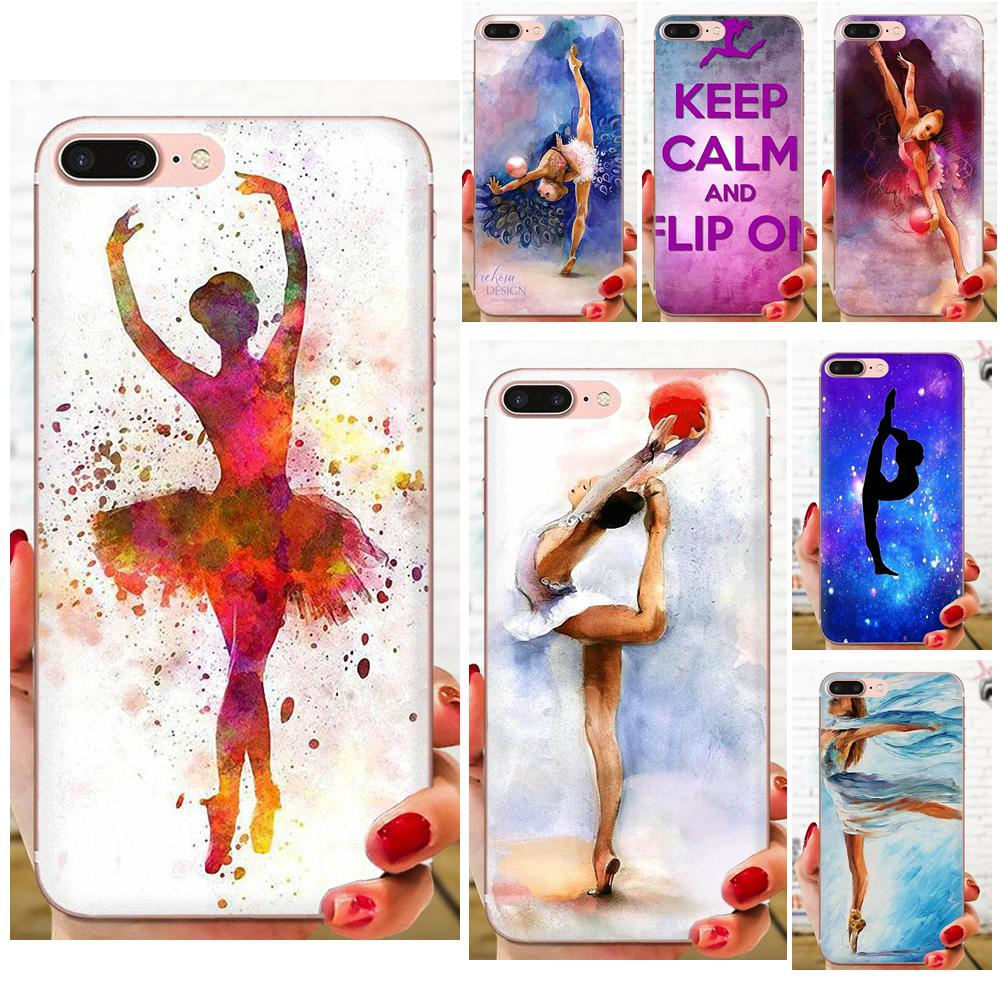 Love <font><b>Gymnastics</b></font> Oil Painting Soft TPU Cell Phone Case For Xiaomi Redmi Mi 4 7A 9T K20 CC9 CC9e Note 7 9 Y3 SE Pro Prime Go Play image