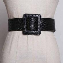 SeeButiful, новая мода, осень, 6 цветов, простая квадратная пряжка, узор «крокодиловая кожа», из искусственной кожи, Женские поясные ремни A986