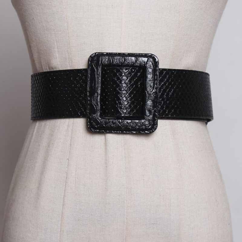 Fashion Women Lady Girl Skinny Waist Belt Leather Dress Wide Waistband 5.5cm