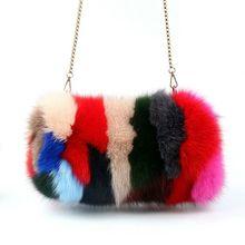 Zimowe ciepłe ręce torba Fox torba z futerka ogrzewacz dłoni łańcuch torebka na ramię tanie tanio Inne Akcesoria