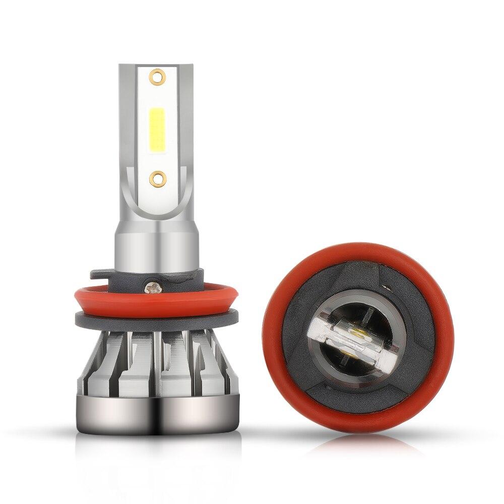 H1 светодиодный лампы для передних фар H7 светодиодный Автомобильные фары H4 H11 9005 9006 6500K 12V COB лампы для передних фар 7200LM 2 шт. авто фары противот...