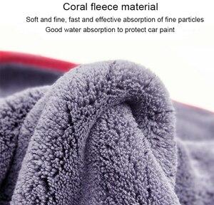 Image 5 - Mikrofaser Handtuch Auto Waschen Zubehör 60*90cm Super Saugfähigkeit Auto Reinigung Tuch Premium Mikrofaser Auto Handtuch 900GSM